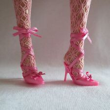 NEW Barbie Tarina Tarantino Doll Pink Ribbon Tie High Heel Shoes ONLY Model Muse