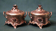 Art Nouveau Silver plated WMF Sugar Bowl Pair Germany Austria