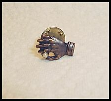 Pin Hand Holding Pearl between thumb and forefinger Tie Tack  Lapel Hat Vest D1