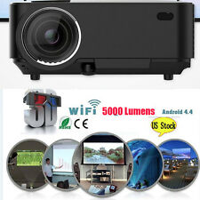 4K 3D Wifi DLP Mini Portable Full HD 1080P Home Theater Projector HDMI USB LED Y