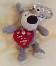 "New Boofle 8"" Knit Stuffed Plush Dog Red Heart (One in a Million!)  NWT AG"