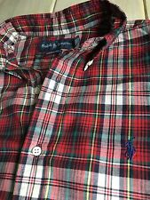 Polo Ralph Lauren Button-Down Short Sleeve Shirt, Gently Used, Men's Large L
