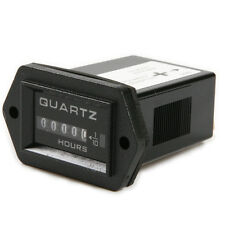 Quartz DC 12V - 60V Tech Rectangular Hour Meter Timer for Boat Car Truck Tractor