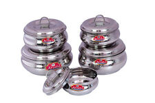 Aristo  Steel Containers, 250ml -1000ml , 5 Pieces, Silver (VR584)