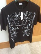 Versace Collection Black Design Crew Neck Short Sleeve T-Shirt Size Large BNWT!