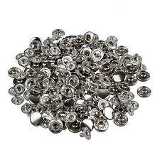 50 Set Metal No Sewing Press Studs Buttons Snap Fastener 10mm LW