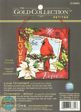 Cross Stitch Kit ~ Gold Collection Vintage Postcard Bird Love Ornament #70-08845