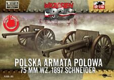 75mm SCHNEIDER WZ.1897/MLE.1897/ GUNS /2 PIECES/ (POLISH ARMY MKGS) 1/72 F2F