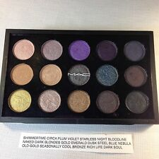 BNIB MAC 15 Pigment Pressed Pans Eyeshadow Palette Gold Steel Blue Nebula Naked