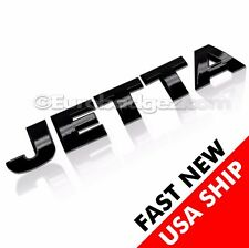 1 BRAND NEW Volkswagen VW JETTA Rear Black Letter Badge Emblem GLOSS BLACK JETTA