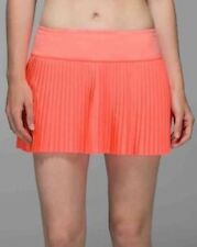 NWT $68 Lululemon Pleat to Street Skirt II Sz 6 Grapefruit Tennis.Sold out item