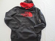 The North Face HALF DOME HOODIE Sweatshirt CZZ7OC7 GREY RED Mens SIZE MEDIUM M