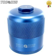 Torques Billet Aluminium Inspection Re-Usable Oil Filter In Blue M20x1.5