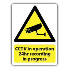 4X CCTV IN OPERATION 24HR RECORDING STICKERS 80 x 60mm security warning decals