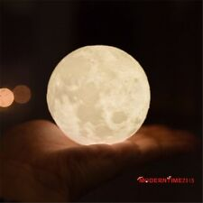 3D Magical Moon Night Light Charging Moon Lamp White Moonlight Valentines Gift