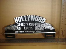 Hollywood Speed & Custom Equipment License Plate FOB Topper Wall Car Motorcycle