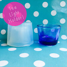 SILICONE MOLD - Tea Light Candle Holder Resin Homeware Make Mould