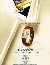 PUBLICITE ADVERTISING 094  1998  CARTIER  collection montres  TANK AMERICAINE