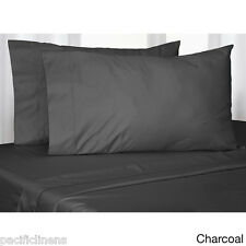 Queen Size Charcoal 500TC 4Pc 100% Cotton Bed Sheet Set Flat and Fitted Sheets