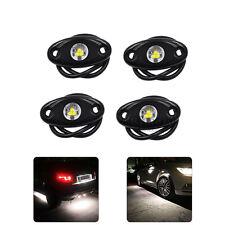 4Pcs 9W OffRoad Truck Trail Fender Lighting LED Rock White Light Under Body