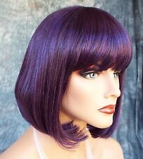 SHORT BOB COSTUME WIG HALLOWEEN PARTIES FANTASY *CLR BLACK CHERRY US SELLER 364