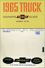 1965 Chevy Truck Owners Manual with Envelope 65 Chevrolet Pickup Suburban Panel