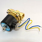 """2-Way Brass DC Solenoid Valve BSP Gas Air Water Oil Electric Pneumatic 1/2"""" 12V"""