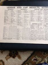 49300 Ephemera 1936 Football Match Results For December 12th 1936