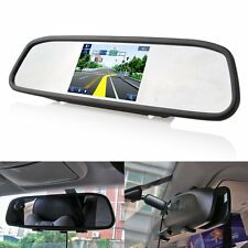 "4.3"" LCD Screen TFT Car Rear View Backup Camera Rearview DVD Mirror Monitor"