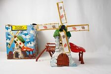 """THE ORIGINAL"" SMURF WINDMILL PLAYSET Schleich Schlumpf W. Germany COMPLETE"