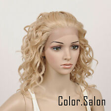 Hand Tied Lace Front Full Wigs Synthétique Perruque Multicolore blond 95#613M27