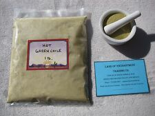 NEW MEXICO *HOT* GREEN CHILE POWDER ONE POUND  Fresh!!   *Free Shipping for USA*