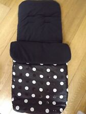 Black Sequin Spot Fleece Lined Stroller Pushchair Footmuff Black STUNNING