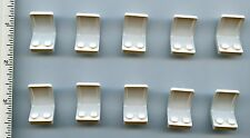 LEGO x 10 White Minifig, Utensil Seat 2 x 2 with Center Sprue Mark NEW chair