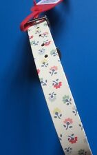 Gorgeous Cath Kidston Large Dog Leather Collar To Fit 36-43cm Neck NEW
