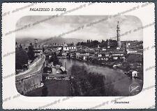BRESCIA PALAZZOLO SULL'OGLIO 11 Cartolina FOTOGRAFICA viaggiata 1954