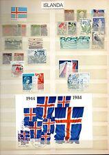 ISLANDA, ICELAND, ISLAND, ISLANDE old and recent used & mint stamps