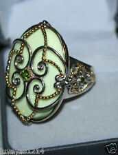 Gems en Vogue Michael valitutti Yellow Gold Sterling silver-Chrome diopside ring