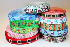 11 yards Mixed Lot Merry Christmas Xmas New Year Winter Printed Grosgrain ribbon