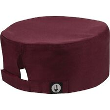 Chef Works Cool Vent Beanie Merlot Chefs Hat Head Wear One Size Cap Cool Vent