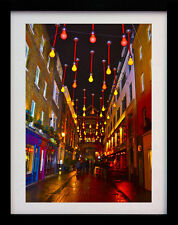STREET LIGHTS LONDON SOHO A3 ART DECO POSTER PRINT - LIMITED EDITION OF 100