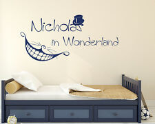 Custom Wall Vinyl Decal Alice in Wonderland Nursery Personalized Sticker FD114