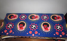 "AFRO COFFEE TABLECLOTH RARE FOOTBALL SOCCER SOUTH AFRICAN FUNKY MOD 78"" X 59"""