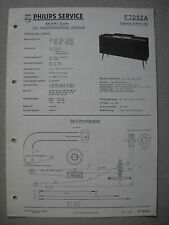 PHILIPS f7d02a capella stereo 702 Service Manual Savelletri. 06/60 incl. info Service