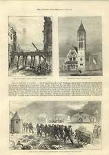 1875 Fire In Beaufort Buildings Strand Congregational Church Caterham Surrey