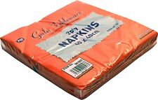 60 x NAPKINS 2PLY 40CM RED SERVIETTES TABLEWARE PARTY SUPPLIES CATERING EVENTS