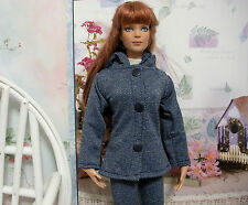 "Fits 16"" Tyler Wentworth Tonner Doll ..Denim Hooded Jacket ... D1053"