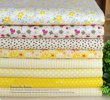 "2016 NEW 8 Assorted Yellow Pre Cut Charm 10"" Squares Quilt Cotton Fabric DIY"
