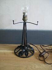 ANCIEN LAMPE TABLE style ART NOUVEAU déco FER FORGé DLG BRANDT