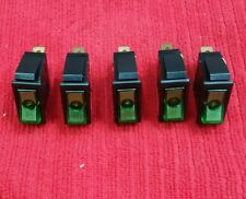 5x LIGHTED GREEN ROCKER SWITCH 12V AUTOMOTIVE CAR BOAT LIGHTS RV TRUCK ON/OFF